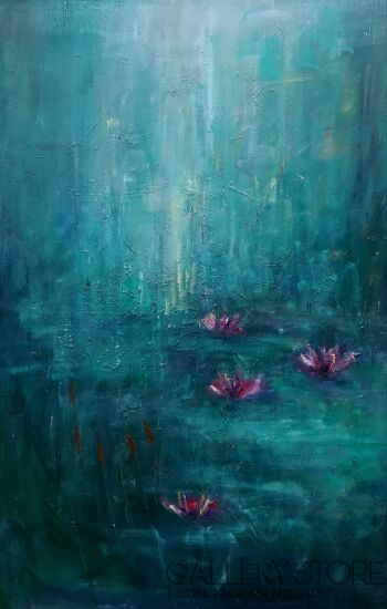 Kamila Krętuś-waterflowers2-Olej